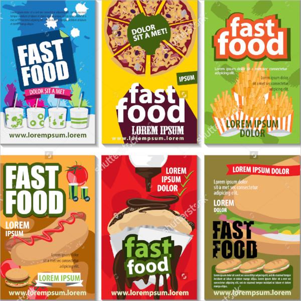 editable food flyer