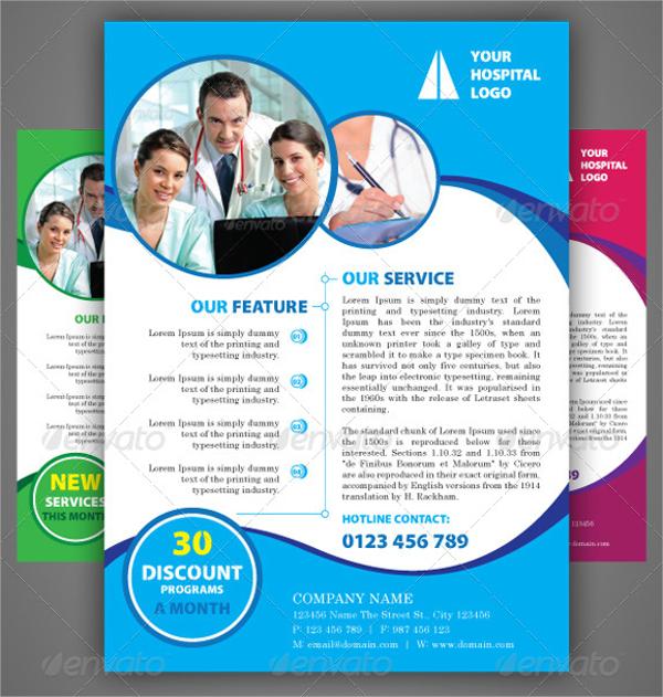 hospital a4 flyer template