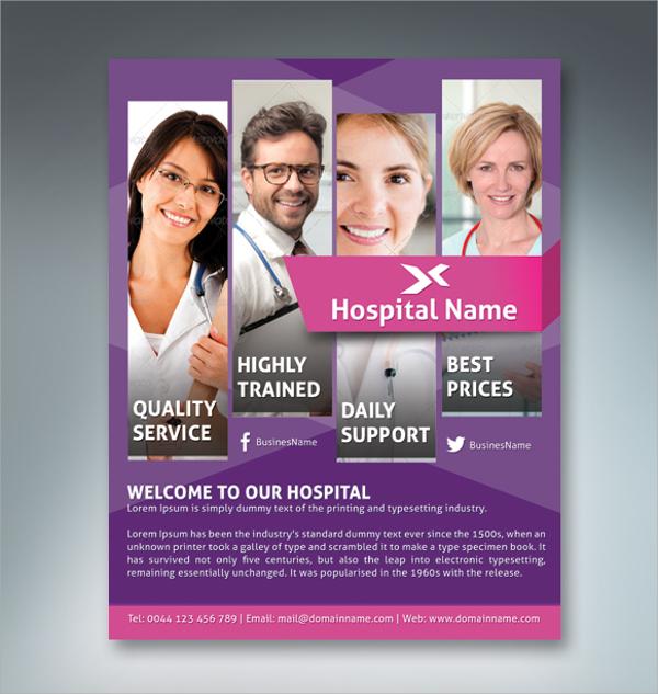 best hospital flyer template