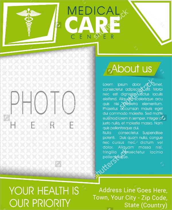 attractive hospital flyer template