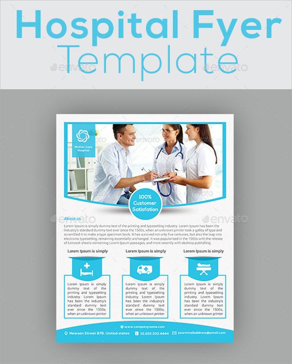 spectacular hospital flyer template