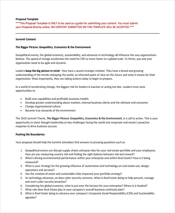 Technology Proposal Template. Business Proposal Sample Doc