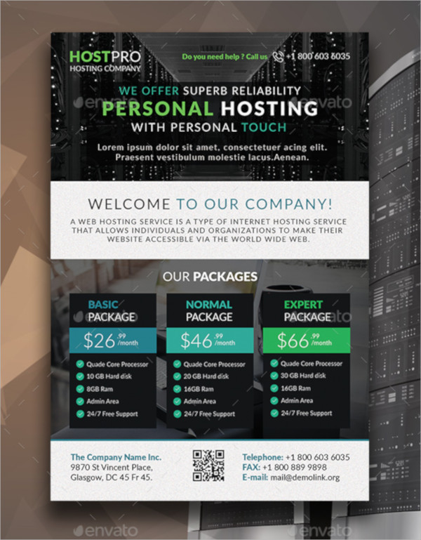 Web Hosting Flyer Template