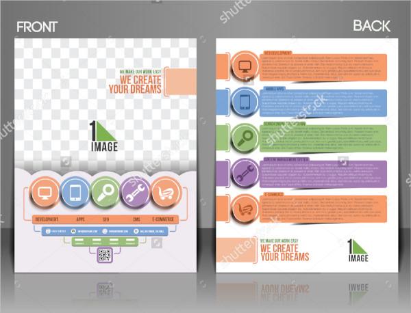 web flyer template vector