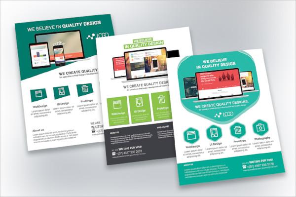 web design flyer template
