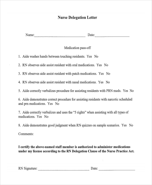 Nurse-Delegation-Letter Official Request Letter Template on fundraising donation, salary increase, food donation, day off, for medical records, schedule change, sample formal, for birth certificate,