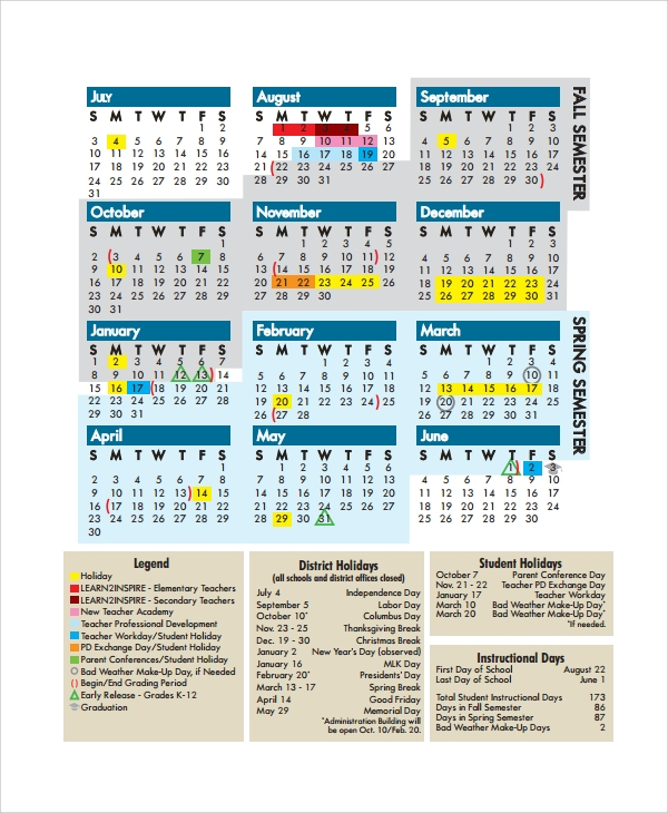 ... Teacher Calendar Template - 9+ Free Documents Download in PDF, Word