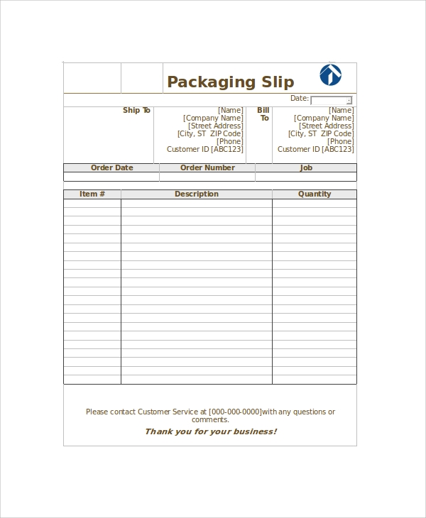 Sample Shipping Slip Templates   Free Documents Download In Pdf