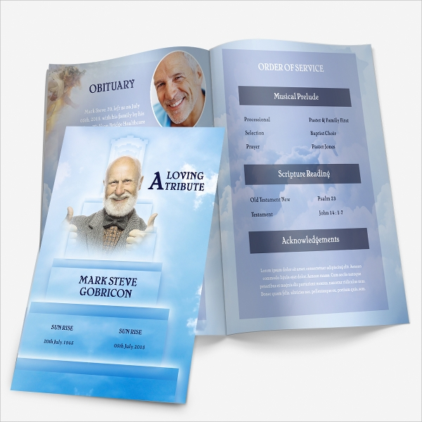 grand father funeral program template