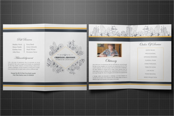 ... Funeral Program Templates - 7+ Free Documents Download in PDF, PSD