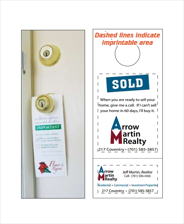 Sample Promotional Door Hangers Templates   Free Documents