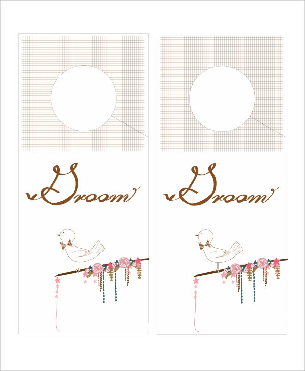 Door Hanger Template  WowcircleTk