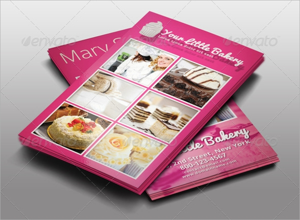catering business card sample