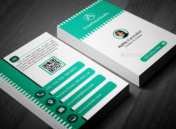 entrepreneur business card sample