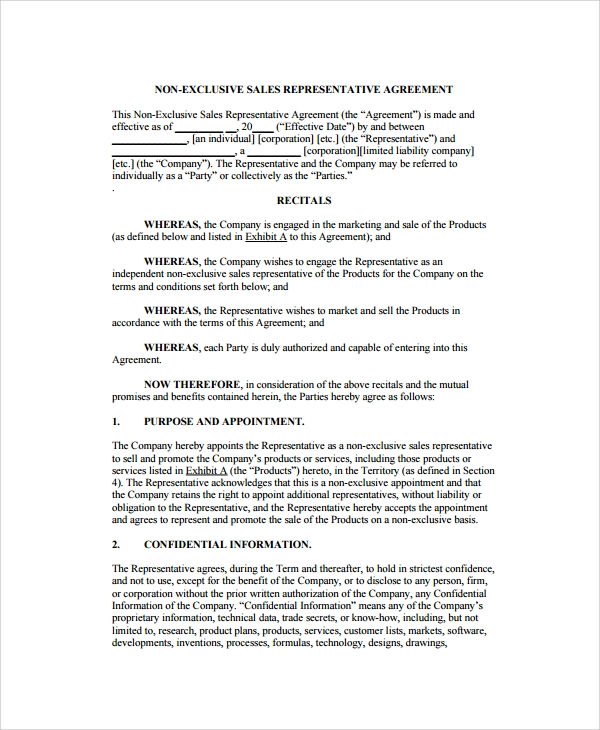 11 Sales Agency Agreement Templates Word Pdf