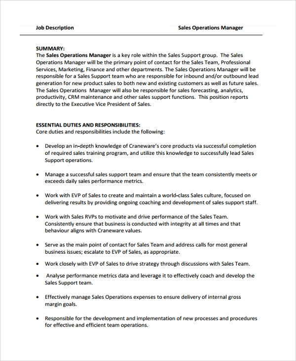 Sample Director Of Operations Resume   Free Documents Download In