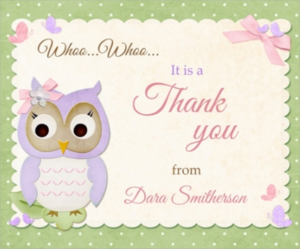the thank you messages for baby showers also come in template formats