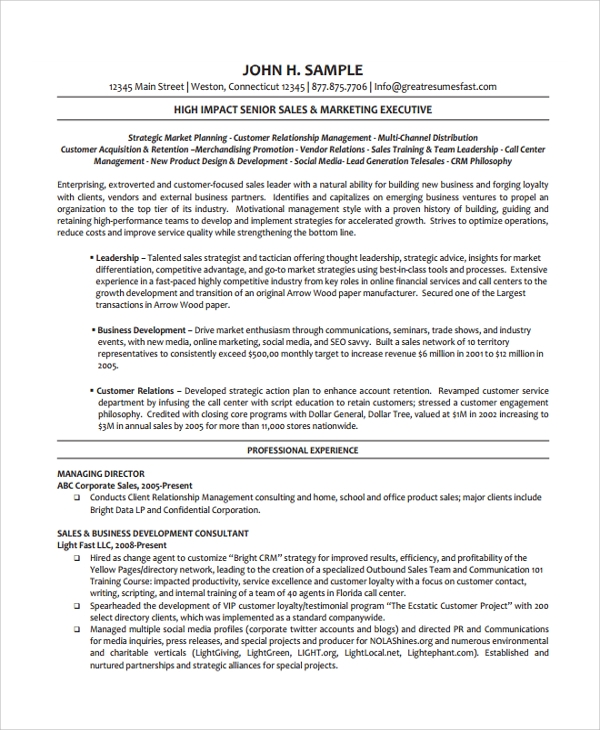 Sample Director Of Operations Resume 7 Free Documents