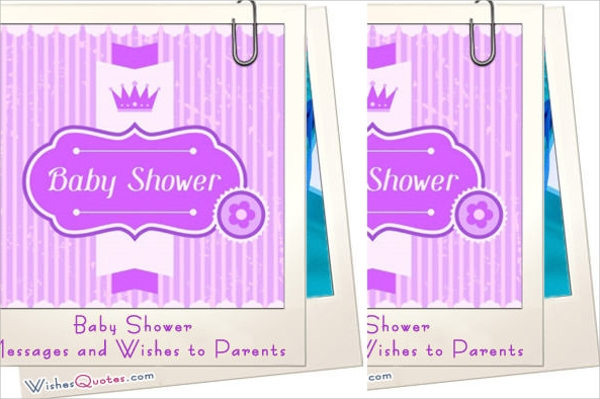 sample baby shower messages