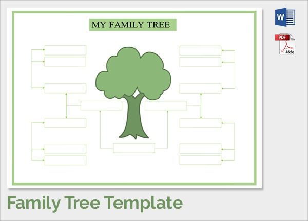 18 sample family tree chart templates sample templates for Fill in the blank family tree template