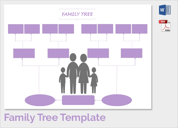 colourfull family tree template