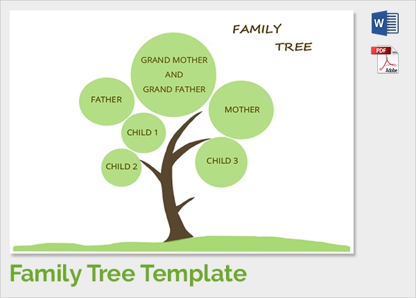 18 sample family tree chart templates sample templates for Plain family tree template