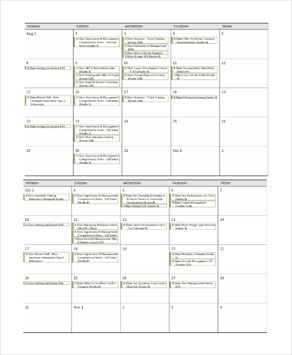 Government Quarterly Calendar | Calendar Template 2016
