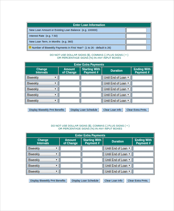 Auto loan payoff calculator bi weekly 16