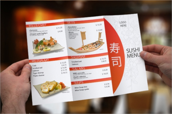 a3 tri fold menu template