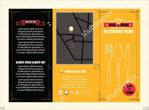 vintage trifold menu