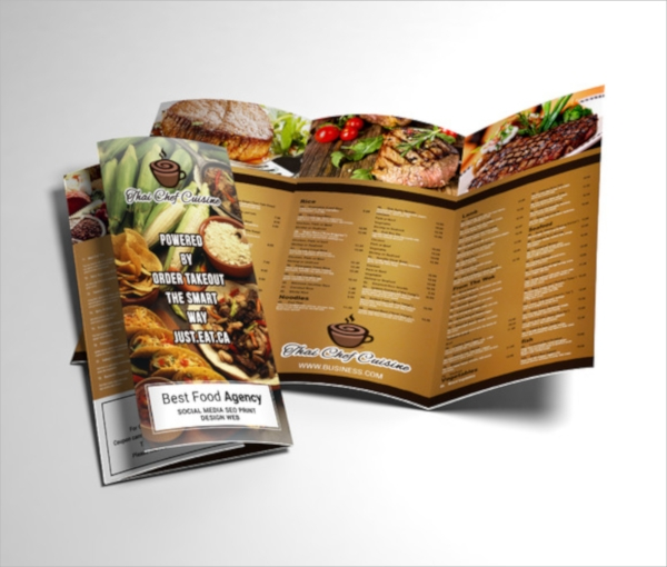 Menu Templates Sample Templates - Menu brochure template
