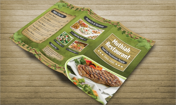 restaurant tri fold food menu