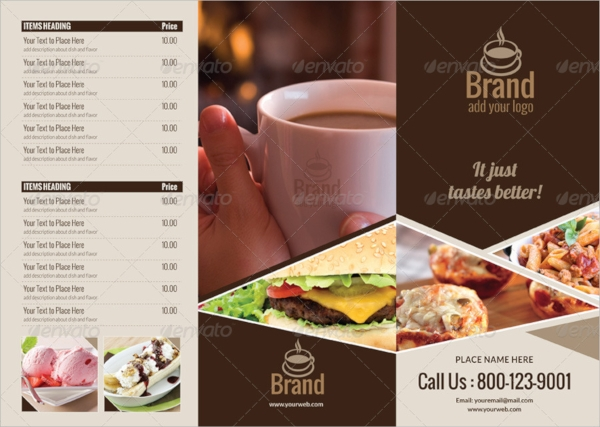 multi purpose tri fold menu card