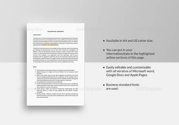 sample job description template 32 free documents