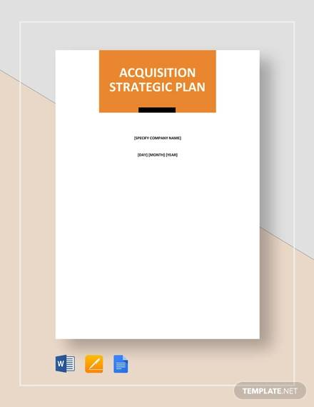 Sample Acquisition Strategy 8 Documents In Pdf