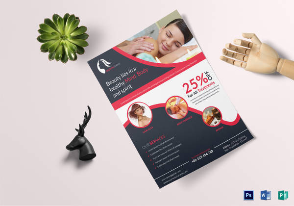 18  hair salon flyer templates