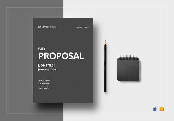 bid proposal template to print