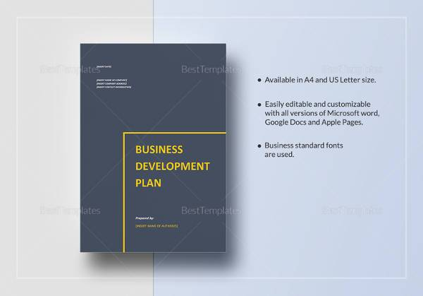business development plan template in word