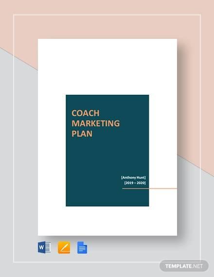 coach marketing plan template