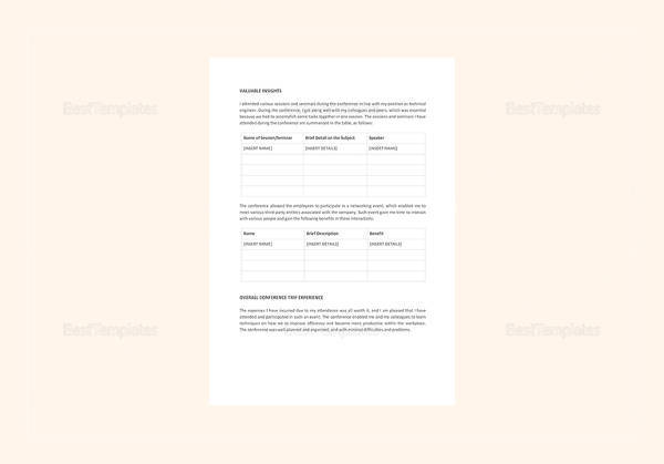 conference trip report template