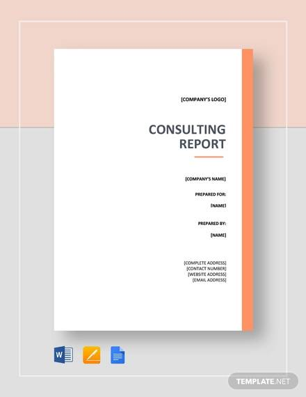 Free 14 Sample Consulting Reports In Pdf Ms Word