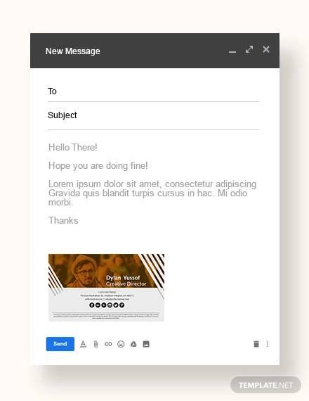 creative email signature sample