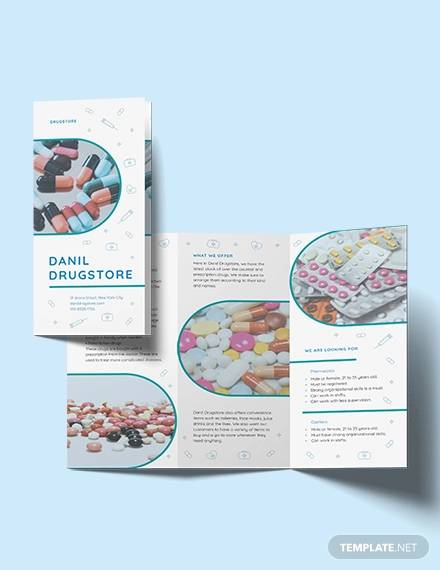 drug brochure tri fold template
