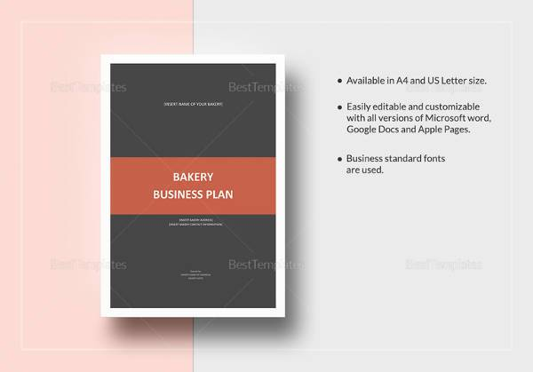 editable bakery business plan template