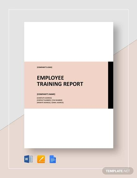 employee training report