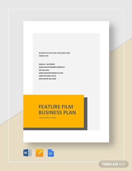feature film business plan template