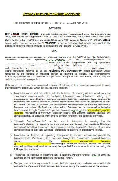 franchise agreement form in ms word