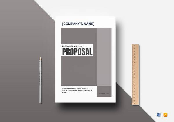 freelance writing proposal word template
