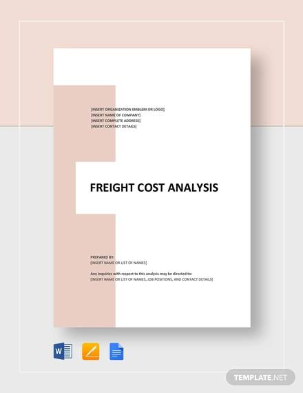 freight cost analysis