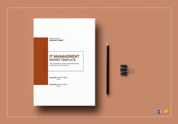 it management report template to print